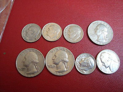 Small lot of 8 Various Vintage Coins. USA. United States of America.
