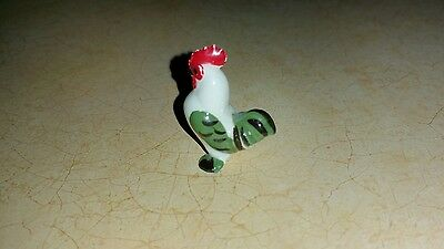 Hagen Renaker VERY HARD TO FIND TINY HEN & ROOSTER (Green & Black)mini figurines