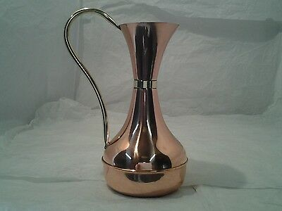 vintage copper and brass water jug