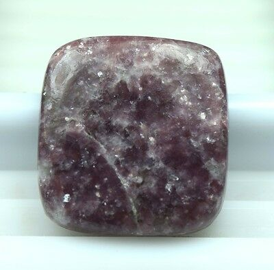 32.45 Cts. 100 % Natural Lepidolite Cushion Cabochon For Making Pendant