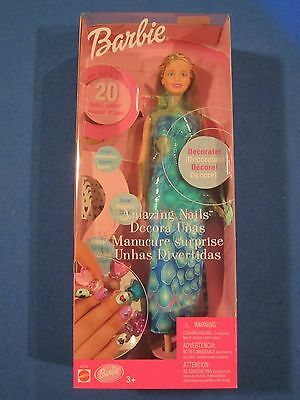 Barbie AMAZING NAILS Decorate Jacket 53379 New in Box Foreign Language Box