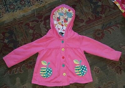 Baby Girls Hoody Apple Pockets 9 - 12 months