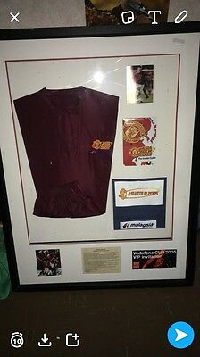 Very Rare Vintage Framed Manchester United 2005 Vodafone Cup Vip Invitation