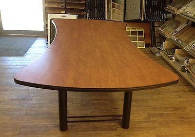 Conference Table 8' Excellent Condition, Wood Grain Laminate