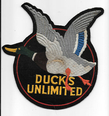 Vintage 8 Inch Cloth Ducks Unlimited Jacket Patch