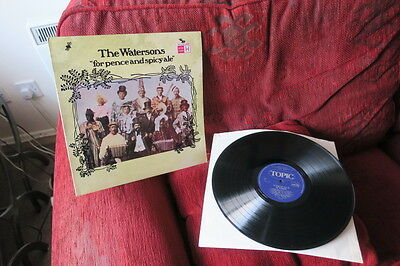 """THE WATERSONS """"for pence & spicy ale """" 1975 UK BLUE TOPIC LABEL STEREO VINYL EX"""