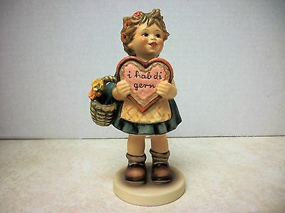 """Hummel 1972 """"i hab di gern""""  337 Exclusive Special Edition No. 1 Girl with Heart"""