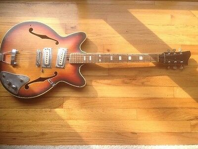 Vintage Electra Hollow Body Electric Guitar