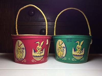 Vintage Easter candy container / basket made in Canada / ephemera paper