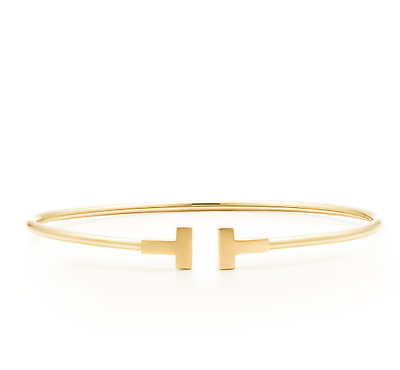 NWB Tiffany T Narrow Wire Bracelet in 18k GOLD