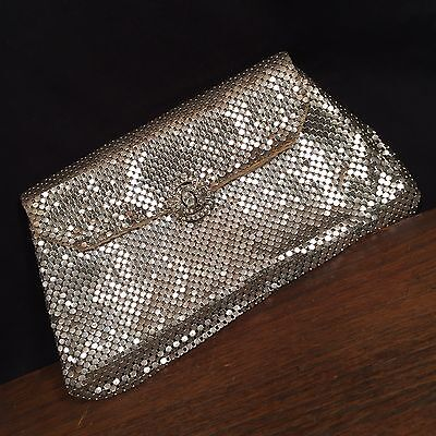 Vintage Clutch Purse Metal Whiting & Davis Co USA Mesh Bag PRIORITY MAIL