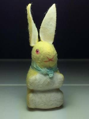 Vintage straw stuffed Easter bunny