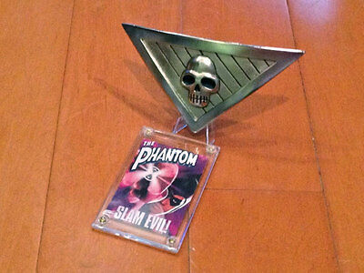 The Phantom Belt Buckle Replica Silver Metal With Display Plaque and Stand