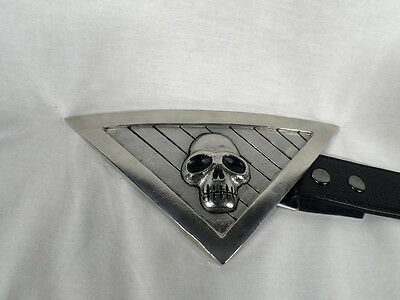 The Phantom Belt Buckle Replica Silver Metal With Real Leather Belt
