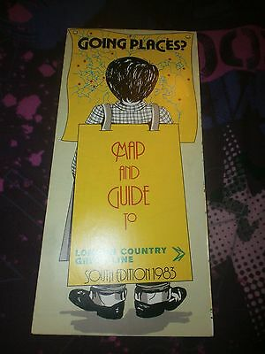 LONDON COUNTRY BUS MAP & GUIDE 1983 (South)