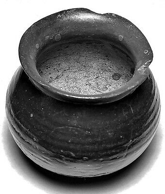 Ancient Greece/ Oil Vase Black Were  300 / 100 Bc Authentic Genuine  Artifact