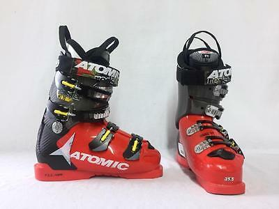 Atomic Jr. Redster Youth Snow Ski Boots Red Size 7.5 Mondo 25.5 Used