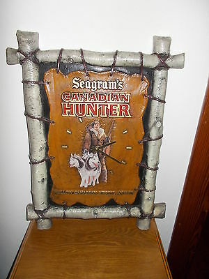 Seagrams Canadian Hunter Mellow Sipping Whisky Sign Clock Works