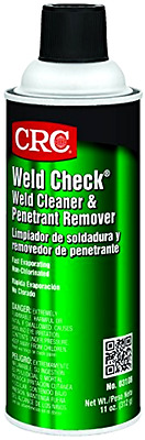 CRC Weld Check Weld Cleaner and Penetrant Remover, 11 oz Aerosol Can, Clear