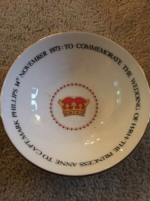 Queen Anne Commemorative Boxed Saucer Ridgway 1973