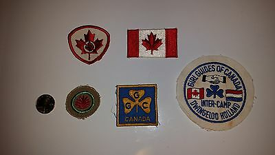 Girl Guides of Canada Vintage Patches - set of 5
