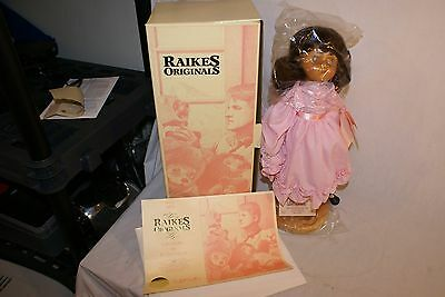 Robert Raikes Molly Doll No. 660284 Standing Display Stand w COA and Tags