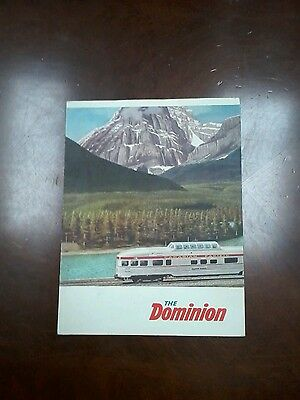 Canadian Pacific Railroad The Dominion early 1950s Menu