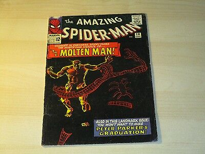 Amazing Spider-Man #28 Key Issue 1St Appearance Molten Man Affordable Copy Nice!