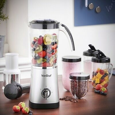 Blender Grinder Juicer Smoothie Maker Soups Sauces Cocktails New 4-in-1 Protein