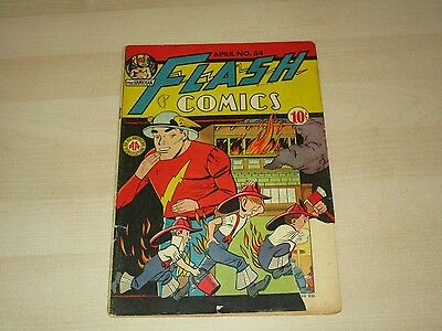 1945 Dc Flash Comics #64 Golden Age Comic Vg+ Great Rare Book Hard To Find!!