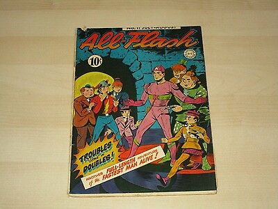 1943 Dc All - Flash #11 Golden Age Comic Fine Rare Hard To Find In This Grade!!