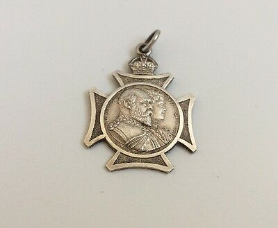 Collectable King Edward VII Coronation Sterling Silver Pendant