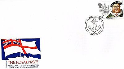 1983 Royal Navy With Portsmouth Special H/s Unaddressed Fdc From Collection S10