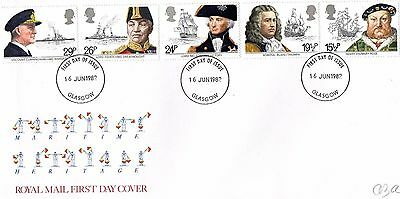 1982 Maritime Heritage With Glasgow Cds Unaddressed Fdc From Collection S13