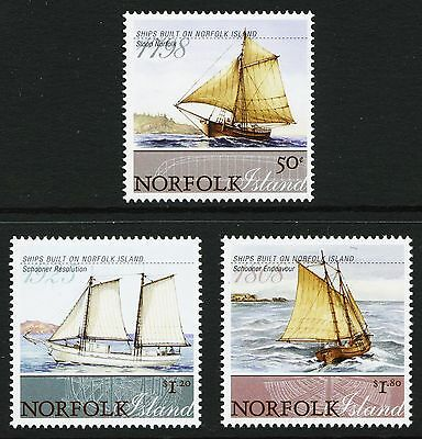 Norfolk Island 2008 Ships Complete Unmounted Set Sg1036/1038. Cat. £13.25 Boats