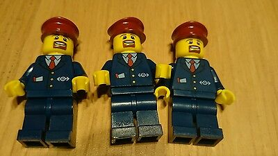 Lego city train Minifigure - Train Conductor X 6- From Lego City (60051) New