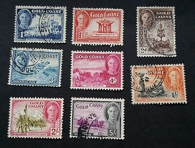 Gold Coast GVI 1948 used stamps