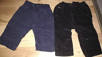 boys trousers x2 3-6 months