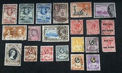 Gold Coast assorted used stamps