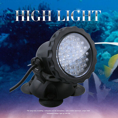 36 LED Yellow Aquarium Light Spot Bulb Underwater Fish Tank Lamp Lighting UK New