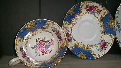 Windsor China Ye Old English Blue Floral Vintage Cup & Saucer weddings tea party