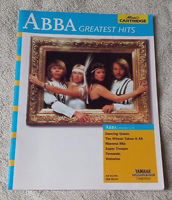 ABBA GREATEST HITS Piano Vocal Guitar Chords Sheet Yamaha Music Cartridge Book