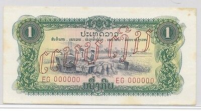 Laos -State of Lao 1 Kip Banknote Specimen  P#120As