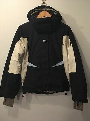 ***ladies Helly Hansen Ski Jacket_Small_Black/white/blue***