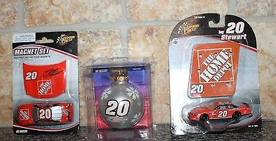 Lot of #20 Tony Stewart Collectibles 2-1:65 Die Cast Cars & 1-Christmas Ornament