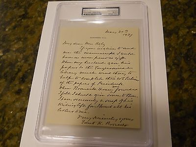 Edith Roosevelt Signed Letter Psa/dna Authentic Auto First Lady President Teddy