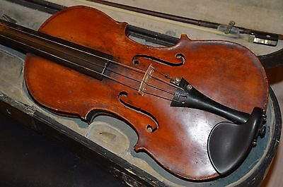 Old Violin, Italian(?), with bows and old case
