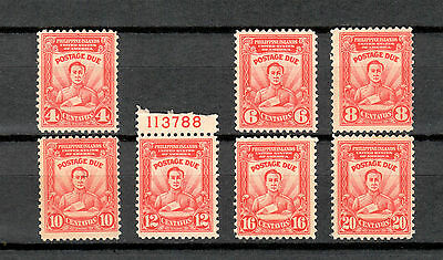 Philippines - 7 stamp POSTAGE DUE set - MNH - J8 to J14 - 1928
