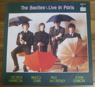 The Beatles Live In Paris Odeon French Lp