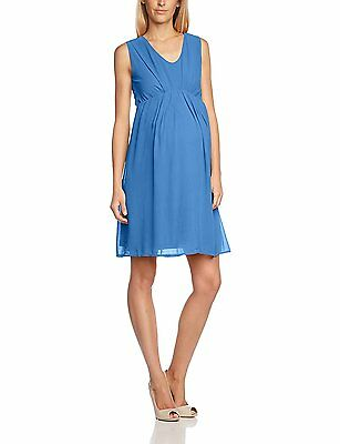 43ffac7ae1755 Mamalicious Maternity & Nursing Blue 'Willa' Cocktail Dress Size 10-12 ...